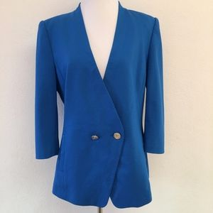 Ted Baker Blue Blazer Jacket Size 4